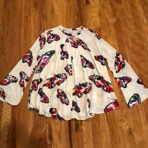 Lapis Butterfly blouse